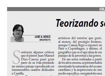 Artículo «TEORIZANDO SOBRE EL PAISAJE DE CASTILLA» de José Antonio Herce Inés