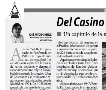 Artículo «DEL CASINO AL HOSPITAL DE GUADALAJARA» de José Antonio Herce Inés