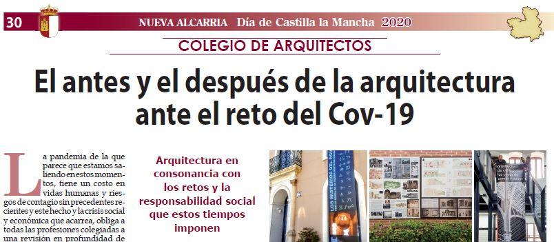 Artículo DÍA DE CASTILLA-LA MANCHA «EL ANTES Y EL DESPUÉS DE LA ARQUITECTURA ANTE EL RETO DEL COV-19»