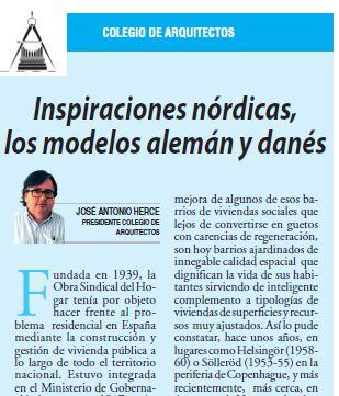 Artículo «INSPIRACIONES NÓRDICAS, LOS MODELOS ALEMÁN Y DANÉS» de José Antonio Herce Inés