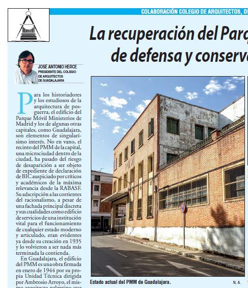 Artículo «LA RECUPERACIÓN DEL PARQUE MÓVIL COMO EJERCICIO DE DEFENSA Y CONSERVACIÓN DE PATRIMONIO» de José Antonio Herce Inés.